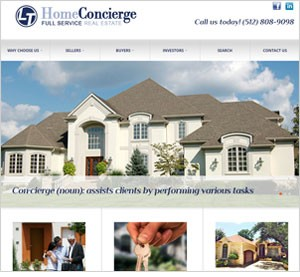 Homepage of the LT Home Concierge website