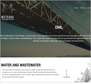 Homepage of the Meteora website