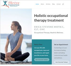 Image of ThriveOT homepage