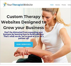 Your Therapist Website homepage image