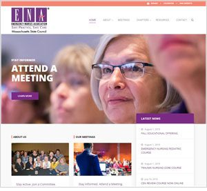 Homepage of the Massachusetts ENA website